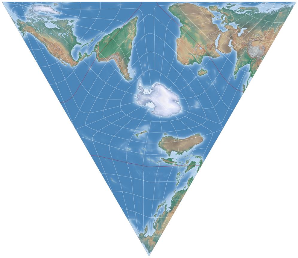 Flache Erde Karte Kaufen.Ein Flachentreuer Entwurf Nach Art Der Authagraph Karte